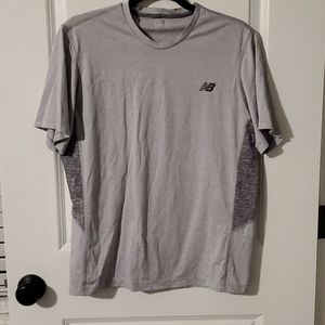 New balance gray short sleeve exercise shirt med